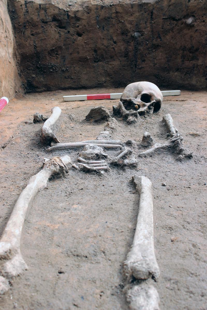 Detail einer Bestattung