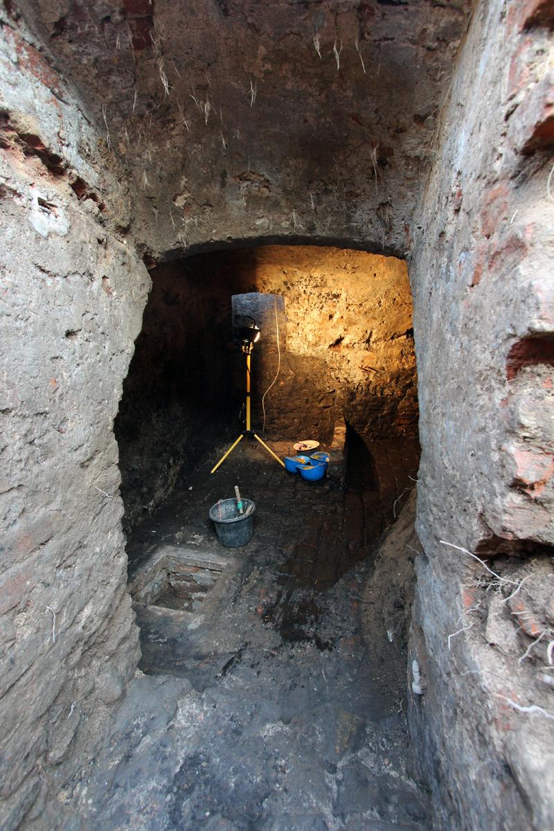 Blick in den Keller.