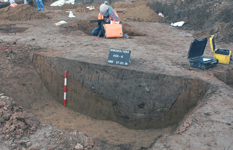 Hochmittelalterlicher Siedlungsbefund - Profiluntersuchung